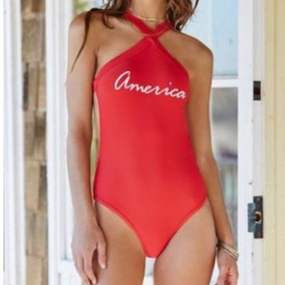 "LA Hearts Other - La Hearts ""America"" One Piece Swimsuit"